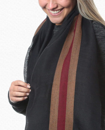 Alpaca Scarf Striped Mocha