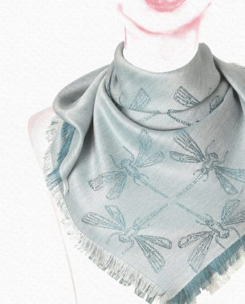 Women Dragon Fly Green Alpaca Woven