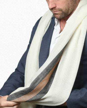 Alpaca stripe scarf