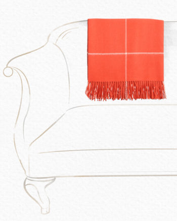 Alpaca Wool Throw Orange