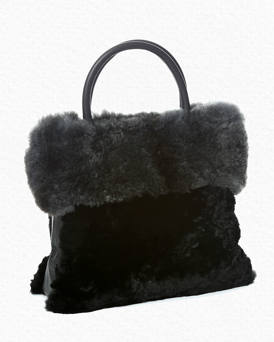 AlpacaBlackGrayBag