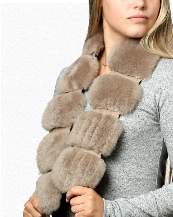 AlpacaRippleTaupeScarf