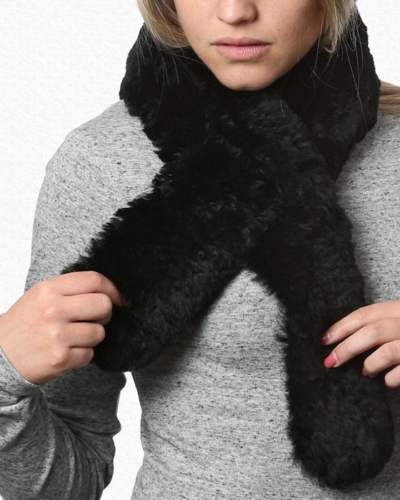 Alpaca Scarf Classic Black