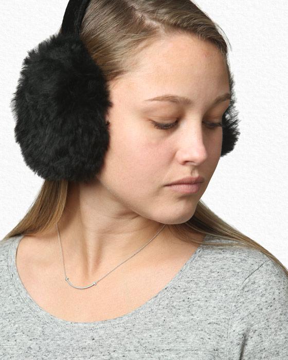 Fur Alpaca Flossy Earmuff