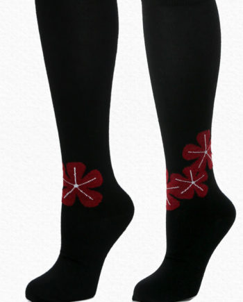 Alpaca Socks Petals Black